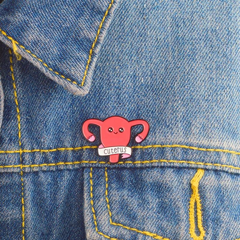 QIHE-JEWELRY-Cuterus-pin-Uterus-Enamel-pins-Brooches-Badges-Lapel-pin-Accessories-Girl-power-Women-Rights