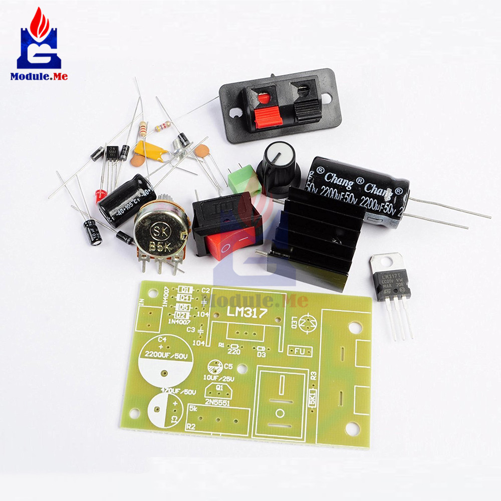 Lm317 Diy Kit Step Down Power Supply Module Adjustable Voltage Calculator Applications Circuits Regulator Switch Resettable Fuse Electrolytic Capacitor Board In Integrated From