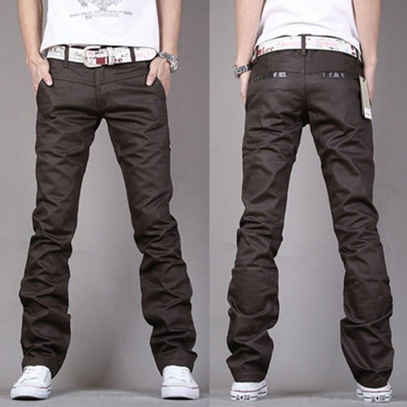 Модные Для мужчин джинсы Бизнес Повседневное весна прямые тонкие Коричневые джинсы брюки Для мужчин Классические ковбои молодой человек ... ...