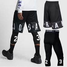 Men Basketball Sets Sport Gym QUICK-DRY Workout Board Shorts + Tights For Male Soccer Exercise Hiking Running Fitness Yoga 85022
