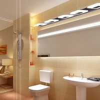 Simple Modern LED Wall Sconce Fashion Acrylic Mirror Wall Lights For Home Indoor Lighting Bathroom Lamp Lampe Murale