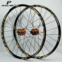 Pasak MTB 26 Wheels Mountain Bike Bicycle Wheelset Front 2 Rear 4 Bearing Hub 24 Holes Smooth Wheelset 26er Aluminum Alloy Rim