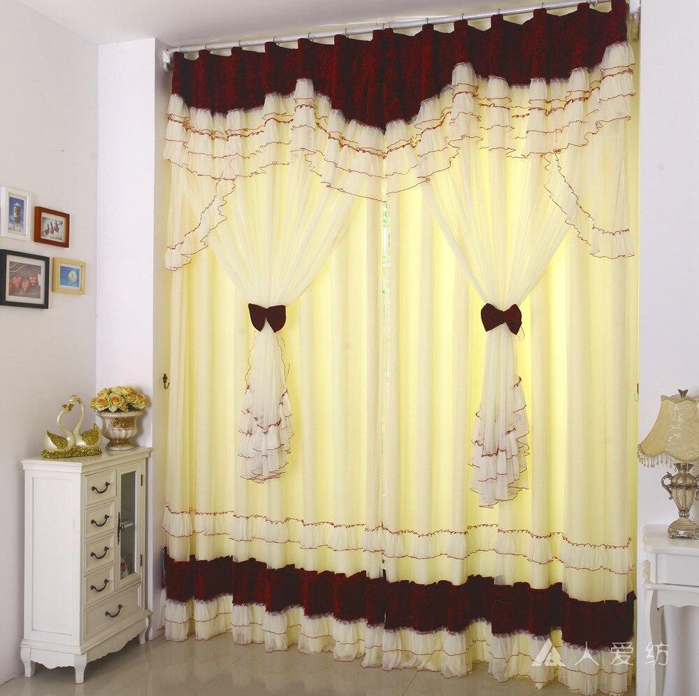 Europa gasa cortina de ventana cortinas modernas para sala for Cortinas navidenas para sala