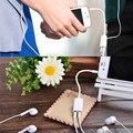 Jack de 3.5mm Dual Audio Splitter Cable Adaptador Macho A Hembra Conector Para Los Amantes de Los Pares Enchufe Auriculares Auriculares Estéreo de Auriculares