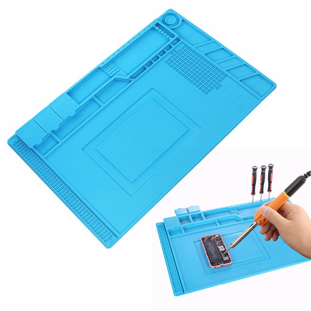 Silicone Mat Desk Mat With Magnetic Section Repairing Heat Insulation Pad For BGA Soldering Repair Station Maintenance Platform