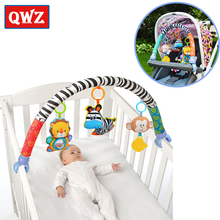 QWZ 1pcs Baby Hanging Blue Elephant And Pink Bunny Music Toy Bed & Stroller Rattle Gifts