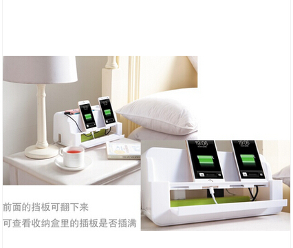 Ny Ankomst Hem Förvaring Box Säng Lagring för Telefon Wire - Hemlagring och organisation