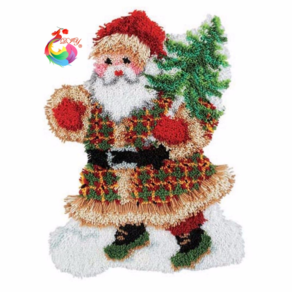 Christmas Decoration Latch Hook Rug Kits Knitting Needles