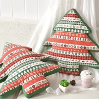 Christmas tree shaped both sides printed thicken seat pillow cushion 42cm, decoration pillow with core,sofa cushion, car cushion