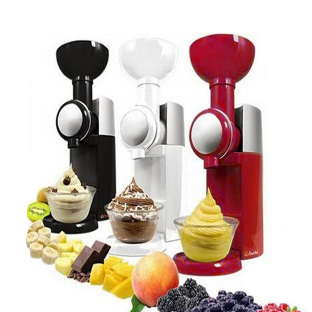 Practical Design DIY Ice Cream Maker Machine Portable Size Household Use Automatic Frozen Fruit Dessert Machine image