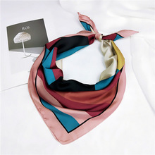 New Design Woman Square Scarf 70*70cm Satin Scarves For Women Head Hair Tie Band Bandana Girls Femme