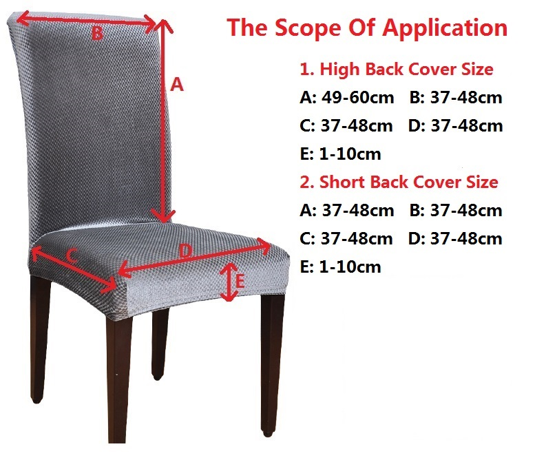Velvet Fashion Design Universal Elastic chair cover dining housse de - Tekstil rumah - Foto 2