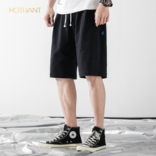 Tide brand mens summer new solid color rope loose wild beach pants  casual five