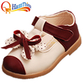 New Girls PU Leather Children Shoes Slip Bottom Fashion Princess Lovely Girls Kids Soft Sole Flats Shoe Toddler Little Kid