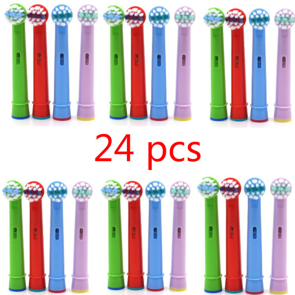 24pcs Tooth Brush Heads Replacement Children kids Brush Heads fit for Oral Pro-Health B Stages Dory Electric Toothbrush image