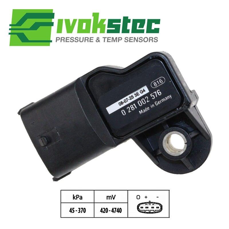 Original Karte Sensor Boost Druck Für Cummins Kamaz Volvo Ford Renault 0281002576 0 281 002 576 3968437 201149033 20524936