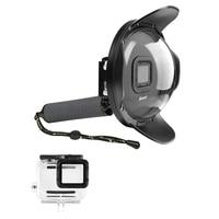 SHOOT Underwater Dome Port for GoPro HERO6 HERO5 HERO2018(Dome Port+Waterproof Case+Handle)