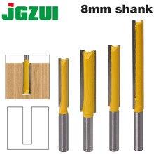 """1 adet 8mm """"Sap Uzun Temizleme Alt Yönlendirici Bit Kesici CNC Ağaç İşleme Temiz Uçları"""