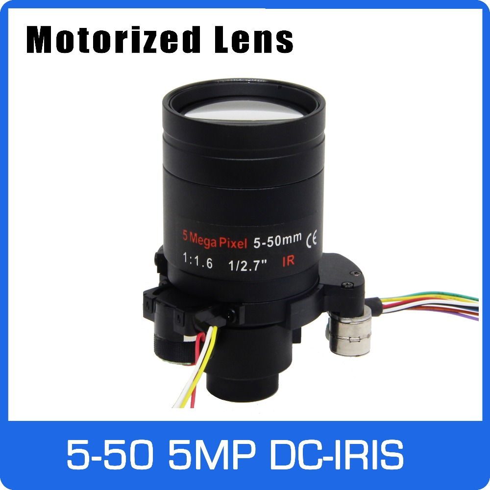 Motor 5Megapixel Varifocal Lens 5 50mm D14 DC IRIS Long Distance View With Motorized Zoom and Focus For 1080P/5MP AHD/IP Camera-in CCTV Parts from Security & Protection