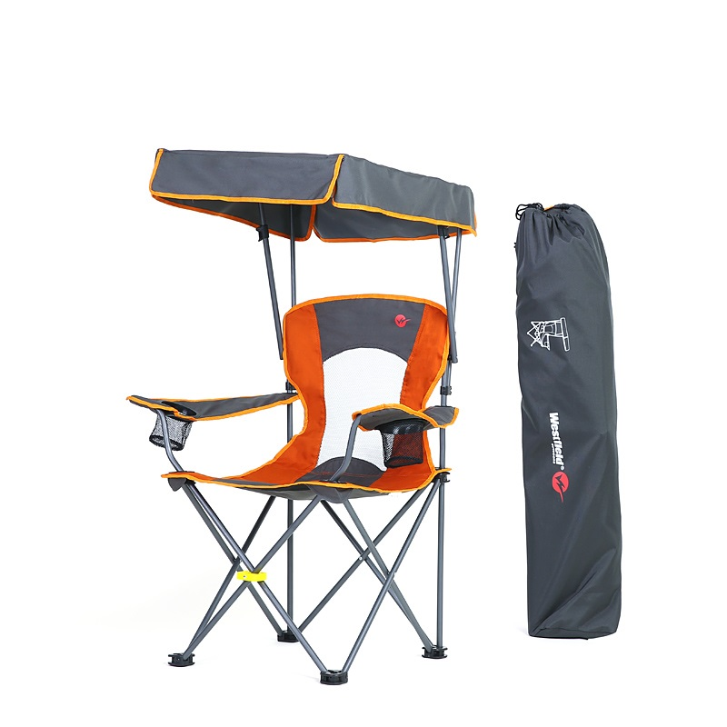 Portable fishing chair with sunshade folding chair for