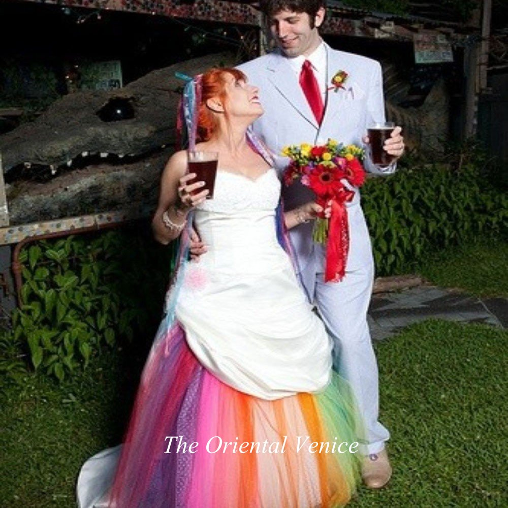 Best Rainbow Colored Wedding Dresses Images - Styles & Ideas 2018 ...