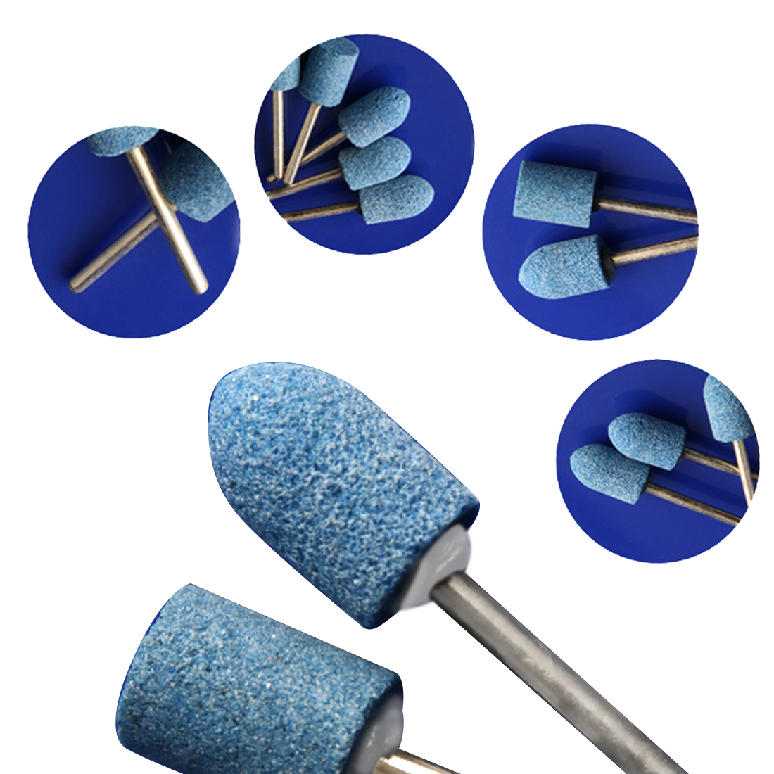 10pc Blue Abrasive Mounted Stone Set Multi Tool Grinding Burr Wheel La Rueda De Moler Burr 1/8 Shank For Dremel 4000 3000
