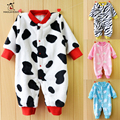 0-12M Autumn Winter Fleece Baby Rompers Cotton Baby Girl Boy Clothing Infant Baby Girls Clothes Jumpsuits Coverall Baby Rompers