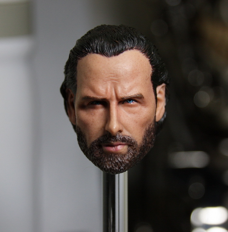 1/6 scale Doll head Male DIY 12 Action figure doll Head Sculpt . The Walking Dead Rick ,Andrew Lincoln 1 6 scale the game of death bruce lee head sculpt and kungfu clothes for 12 inches figures bodies