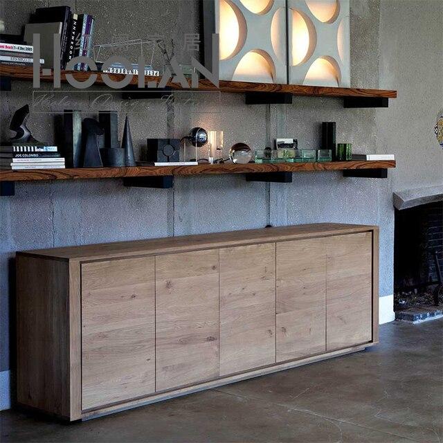 Ikea escandinavos modernos minimalistas aparador de madera de roble ...