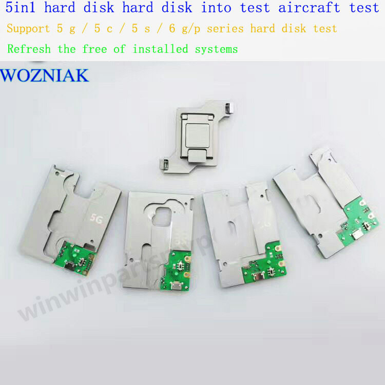 original 5in1 for iPhone hdd nand ic test socket hard disk ic test good or not good 5 5c 5s 6 6plus memory CHIP IC test tools
