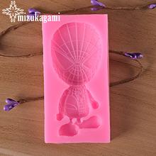 1pcs UV Resin Jewelry Liquid Silicone Mold 3D Spider-Man Resin Charms Molds For DIY Cake Baking Tool Making Jewelry