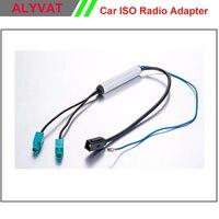 Ücretsiz Nakliye Iki Yönlü OEM Araç DVD GPS Radyo Anten Adaptörü Çeşitlilik Sistemi Fakra Audi VW, BMW Volkswagen