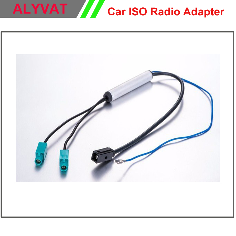 Free Shipping Two Way Oem Car Dvd Gps Radio Antenna Adapter Diversity System Fakra For Audi Vw