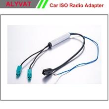 Бесплатная Доставка Двухстороннее OEM Автомобиль DVD GPS Радио Антенный Адаптер Система Разнообразие Fakra для Audi VW BMW Volkswagen