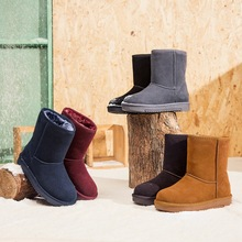 hot deal buy winter warm frosted leather snow boots women ankle boots for women   women winter boots  snow boots women   2018 women shoes