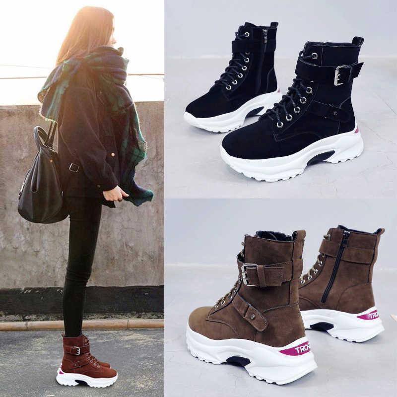 777a76e949fa Женские ботиночки, Осень зима 2019, новая Корейская версия, женские ...