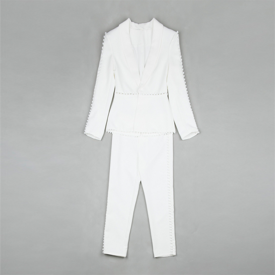0e9064a04fa ... Celebrity Party White Long Sleeve Turn-down Collar 2 Two Piece Set Sexy  Runway Suit Women. big (3)  big (4)  2 ...