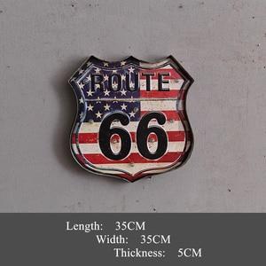 Винтажные вывески Route 66, декоративные металлические светодиодные неоновые вывески для паба, кафе, домашнего декора
