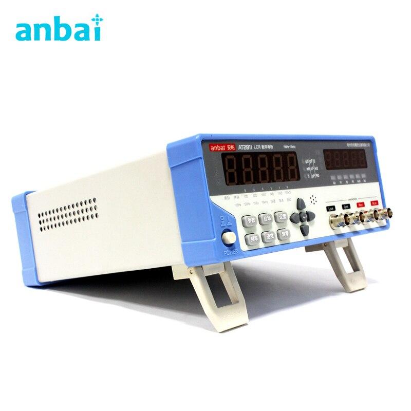 Digital LCR Meter Tester AT2811 LCR Digital Bridge LED Display Frequency 100Hz 120Hz 1kHz 10kHz
