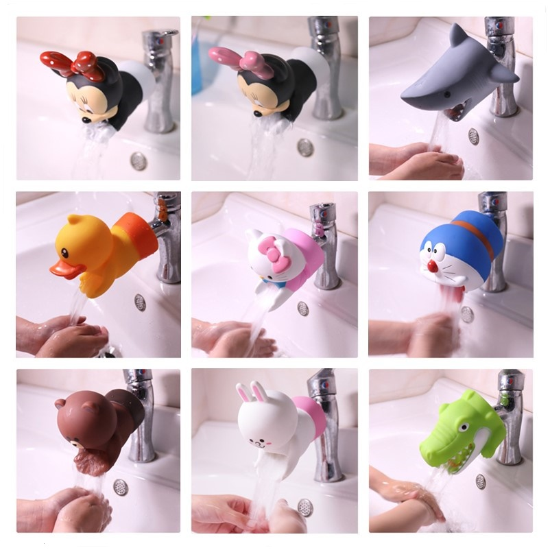 Cartoon Kids Toddler Sink Baby Bathroom Faucet Extender Washing Hands Dropshipping Cute Faucet Extender Durable Home Accessory