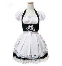 Moda blanco puff manga corta lolita dress maid cosplay disfraces de halloween costume envío gratuito