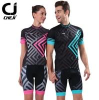 CHEJI Sports Men Women Cycling Jerseys Wear Bicycle Bike set Gel Padded