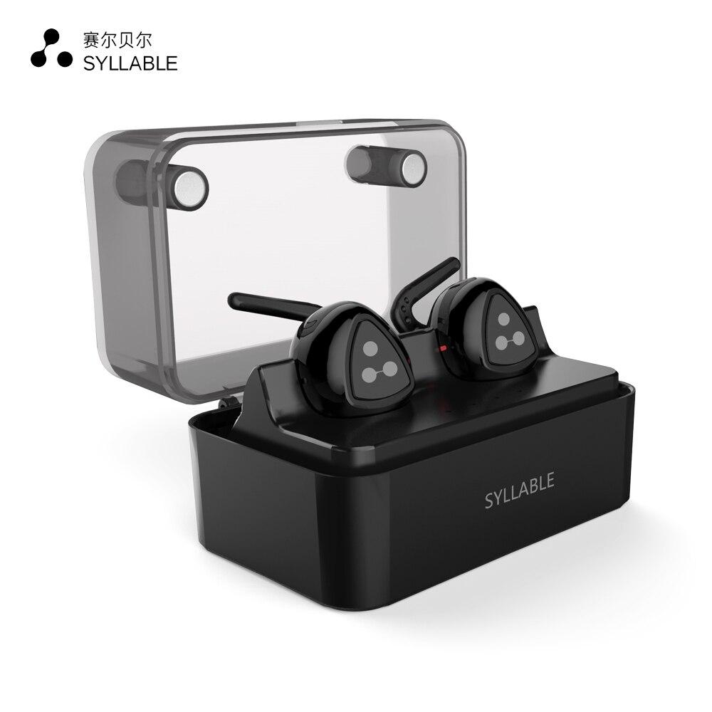 ФОТО Syllable Headphones Bluetooth Stereo Wireless Earphones Bluetooth 4.1 Headset Handsfree Mini Earbud with mic Noise Cancelling