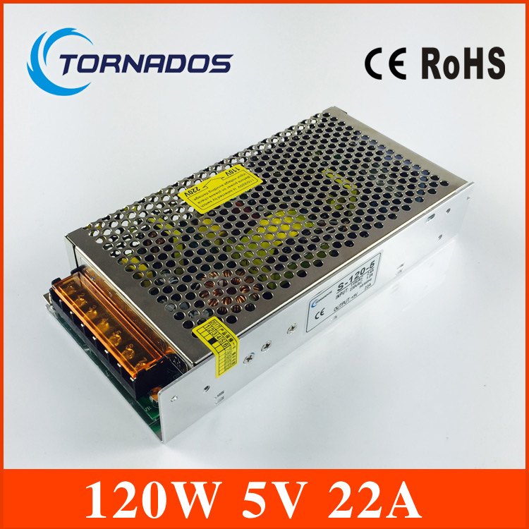 Voltage Transformer 22A 120W AC 100V-240V to DC 5V Switch Power Supply for Led Strip LED display billboard industrial equipment high voltage flyback transformer hy a 2 use for co2 laser power supply