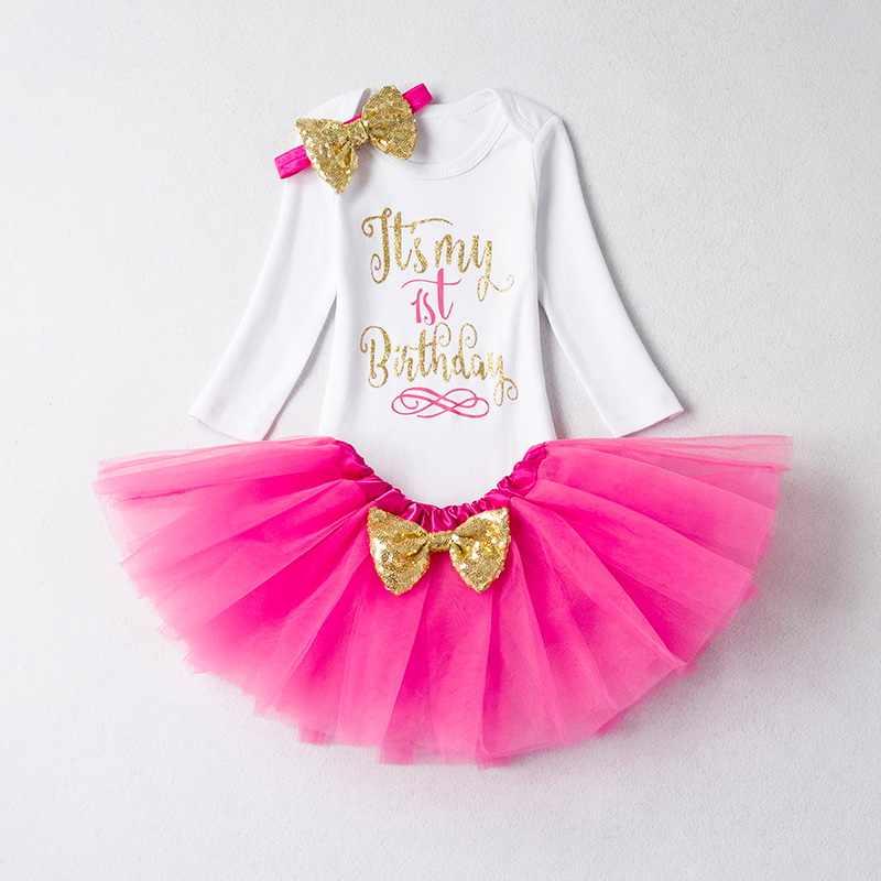 4f8c6d4e0 Vestido rosa recién nacido 1 er cumpleaños trajes bebé diadema niños Niño 1 2  años vestido