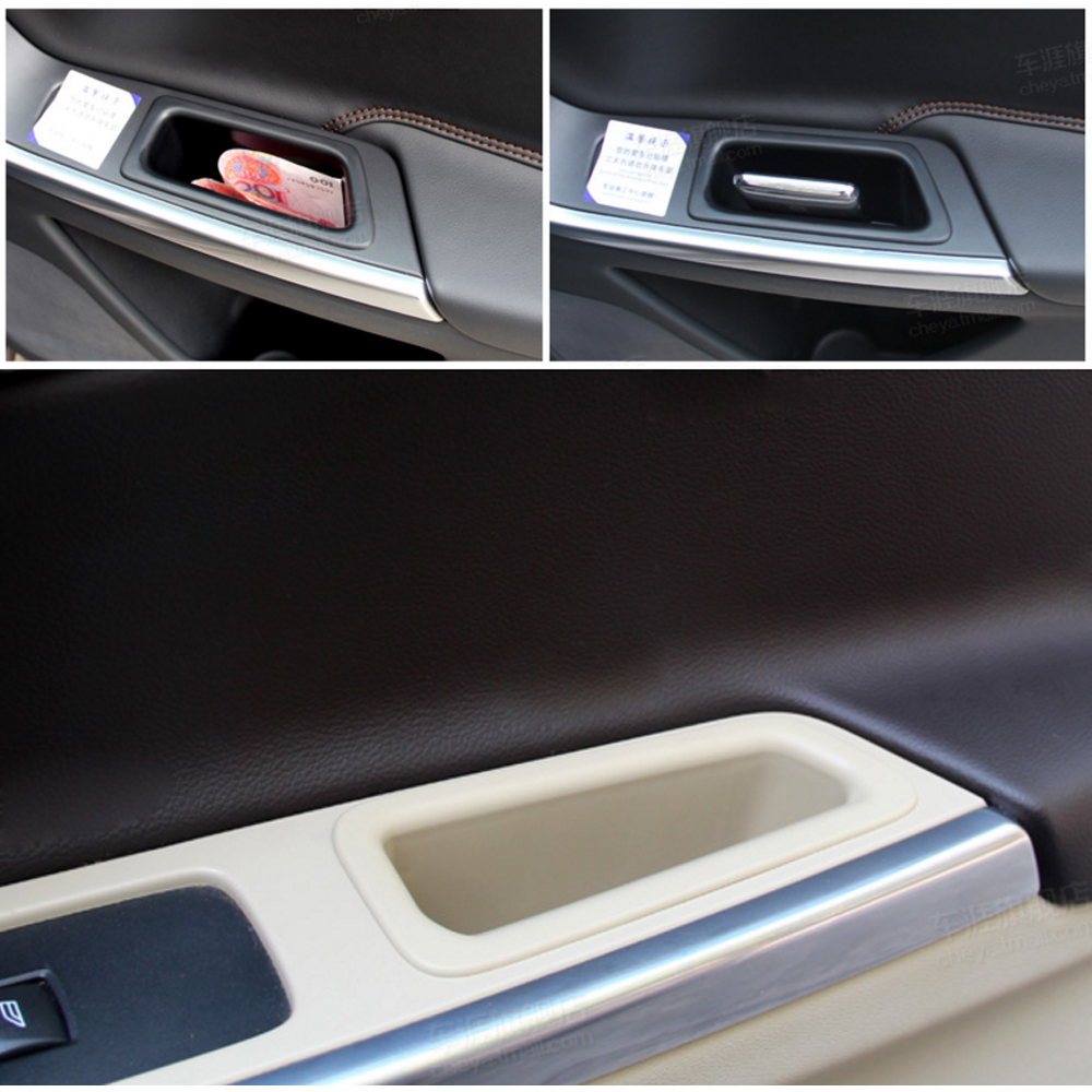 YOSOLO Car Storage Box Phone Holder Stand Door Storage Barrel Stowing Tidying Car Organizer Container For Volvo xc60