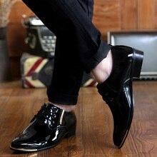 Luxury Brand British Style Oxford Men Wedding Shoes Black Purple