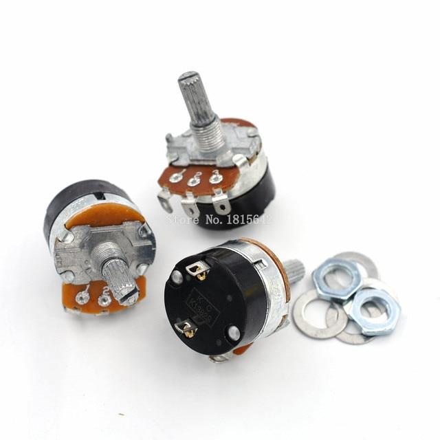 5 pces WH138-1 ajustável resistência regulador de velocidade com interruptor potenciômetro WH138-1 b5k b10k b20k b50k b100k b250k b500k