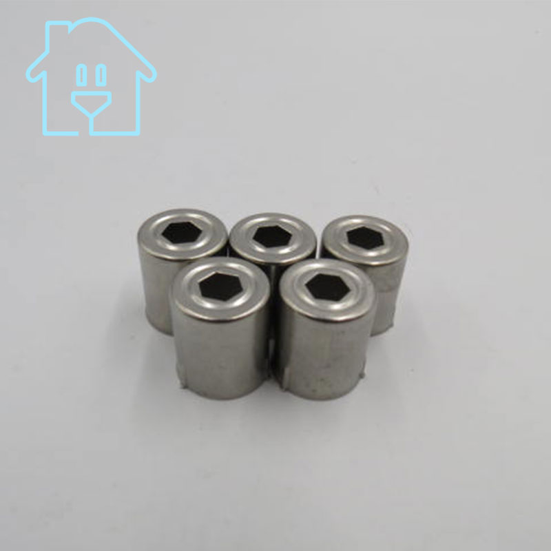 (5 Per / lot) Steel Cap Replacement Microwave Oven Pentagon Hole Magnetron 5 pieces Silver Tone 38% off New Unused цена