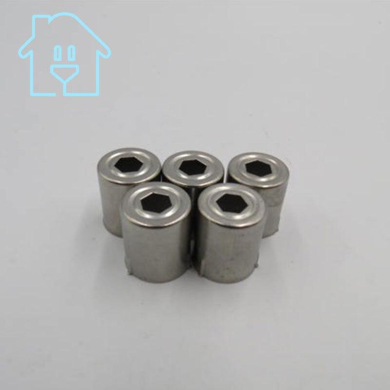 (5 Pro/lot) Stahl Kappe Ersatz Mikrowelle Pentagon Loch Magnetron 5 Stücke Silber Ton 38% Off Neue Unbenutzt